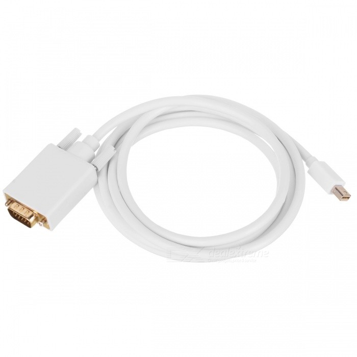 BSTUO Mini DisPlayPort to VGA Cable Line - White (1.8m)
