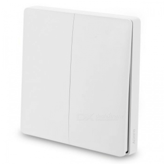 Xiaomi Double Keys Wireless Aqara Smart Light Switch - WhiteHome Smart Devices<br>Form  ColorAqara Wireless Switch (2-Key)Quantity1 pieceMaterialABSRate Voltage220V~50HZPower AdapterWithout Power AdapterPacking List1 x Xiaomi Aqara wireless switch<br>