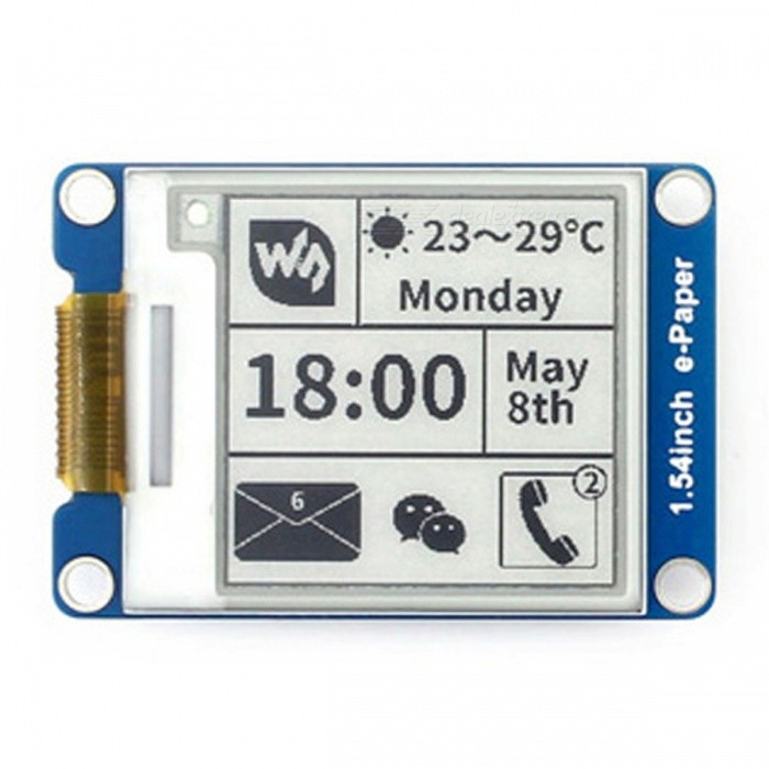 "Product Reviews Phone Computer Electronics Reviews >> Waveshare 1.54"" E-Ink Display Module for Arduino / Nucleo / Pi - Free Shipping - DealExtreme"