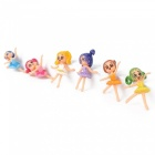 Little Girls Doll Handmade Garden Decoration Decorations (6pcs)