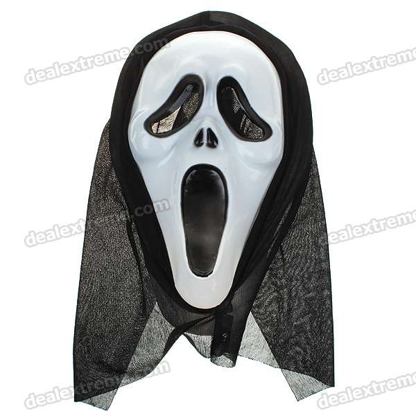 Halloween Party Scream Ghost Mask with Head Cover