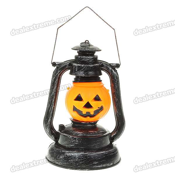 Halloween Pumpkin Orange Lantern Light con efectos de sonido (3 * AA)