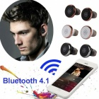 TWS-S05 Mini Wireless Bluetooth Stereo In-Ear Headset - Black + Silver