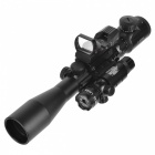 Ensemble Cross Reticle Electro Dot Gun Laser Sight Scope - Noir