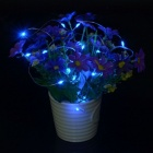 2m 20 LED Blue Light Fairy String Bottle Cork Light avec bouton Batterie