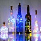2m 20-LED Colorful Fairy String Bottle Cork Light w/ Button Battery