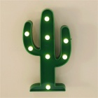 Tropical Cactus Shape LED Night Light Table Lamp - Green