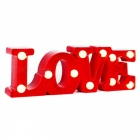 LOVE 3D LED Night Light Table Lamp Wedding Decorative Light - Red