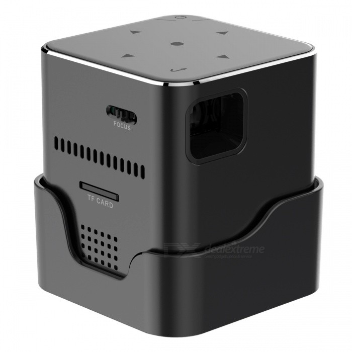 ORIMAG P6 Portable Mini DLP LED HD Wi-Fi Projector - Black (EU Plug)