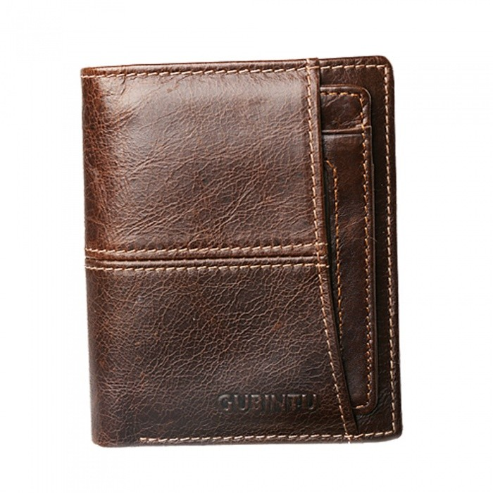 GUBINTU Mens Stylish Folding Split Leather Wallet - CoffeeWallets and Purses<br>Form  ColorCoffeeModel404#Quantity1 pieceShade Of ColorBrownMaterialLeatherGenderMenSuitable forAdultsOpeningZipperStyleFashionWallet Dimensions11.5*9.5*2cmOther Features3 card slots, 1 photo slot, 2 cash pocket, 1 zipper pocket.Packing List1 x Wallet<br>