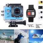 WiFi 4K 1080P 16MP 170 Degrees Sports Action Camera 16GB Memory - Blue