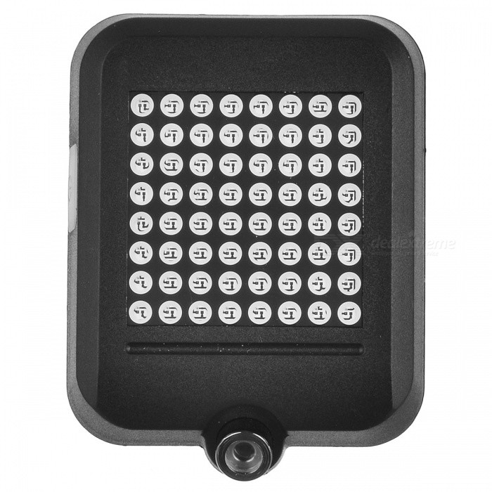 64 LED Smart Wireless Bicycle Mountain Bike Rear Light - BlackBike Light<br>Form  ColorBlackQuantity1 DX.PCM.Model.AttributeModel.UnitMaterialABSColor BINRedNumber of EmittersOthers,64BatteryRechargeable batteryBattery included or notYesNumber of ModesOthers,1ApplicationBodyPacking List1 x Light      1 x Charging line1 x Accessory<br>