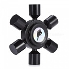 KELIMA Six-Pin Stress Relief Gyro Spinner Finger Toy - Noir