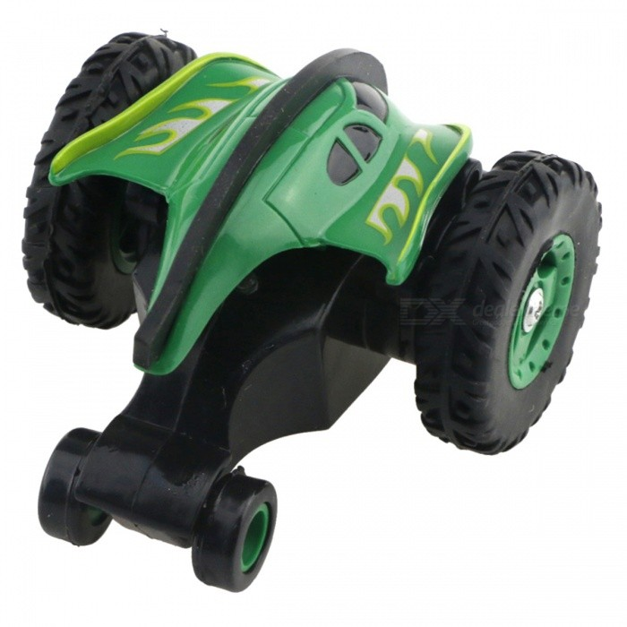 777-611 4-Channel 2.4GHz Micro RC Stunt Car - Grass Green