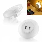 BSTUO Dual USB Charger Sensor Nightlight LED Wall Lamp (EU Plug)