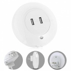 BUSTO Dual USB Charger Capteur Night Light LED Wall Lamp (EU Plug)