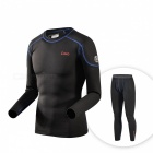 CAXA Men's Thermal Underwear Suit for Uutdoor Sports - Black (XL)