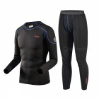 CAXA Men's Thermal Underwear Suit for Outdoor Sports - Black (XL)