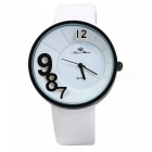 Fashion 3D Number Scale Women's Quartz Watch - White