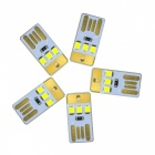 YWXLight 5PCS 1W 3LED 5V 22lm 2835 SMD USB LED Bulbs for Laptop PC