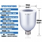 YouOKLight E26E27 7W APP Kaukosäädin Bluetooth RGB Music Light Bulb