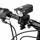Nalida B10 360 Degrees Rotating 4-Mode White Light Bike Light- Black