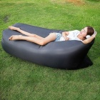 Outdoor Camping Travel Foldable Inflatable Sofa - Black