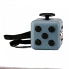 Pressure Relief Dice Rubik's Cube with Nylon Rope - Grey + Black