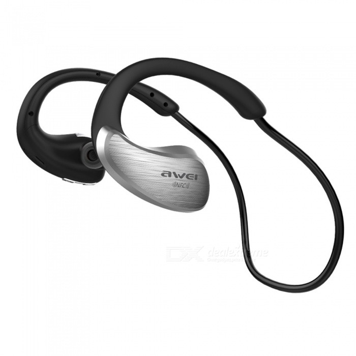 AWEI A885BL HiFi Sport Bluetooth Earphones with Mic APT-X NFC - SilverHeadphones<br>Form  ColorSilverBrandAWEIModelA885BLMaterialPlasticQuantity1 DX.PCM.Model.AttributeModel.UnitConnectionBluetoothBluetooth VersionBluetooth V4.1Bluetooth ChipCSR4.1Operating Range10mConnects Two Phones SimultaneouslyYesCable Length30 DX.PCM.Model.AttributeModel.UnitHeadphone StyleBilateral,In-Ear,NeckbandWaterproof LevelIPX4Applicable ProductsUniversalHeadphone FeaturesHiFi,English Voice Prompts,Phone Control,Long Time Standby,Noise-Canceling,Volume Control,With Microphone,Lightweight,Portable,For Sports &amp; ExerciseSupport Memory CardNoSupport Apt-XYesChannels5.1Sensitivity121dB + / - 3dBFrequency Response20-22000HzImpedance32 DX.PCM.Model.AttributeModel.UnitDriver Unit10mmBattery TypeLi-ion batteryBuilt-in Battery Capacity 130 DX.PCM.Model.AttributeModel.UnitStandby Time180 DX.PCM.Model.AttributeModel.UnitTalk Time10 DX.PCM.Model.AttributeModel.UnitMusic Play Time8 DX.PCM.Model.AttributeModel.UnitPower AdapterUSBPower SupplyDC 5VPacking List1 x Awei A885BL Bluetooth Earphone1 x User Manual  1 x USB Charging Cable4 x Earbud Tips<br>