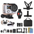 4K 1080P 60fps FHD 12MP WiFi Sports Action Camera with Remote - White