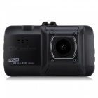 High Speed 1080P Car DVR Recorder with 4-LED Night Vision - Black