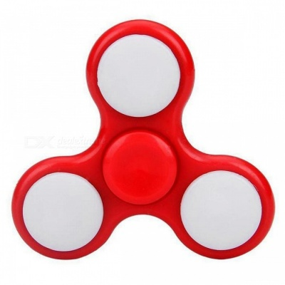 E-SMARTER Colorful Luminous Fidget Stress Relief Spinner Toy - Red
