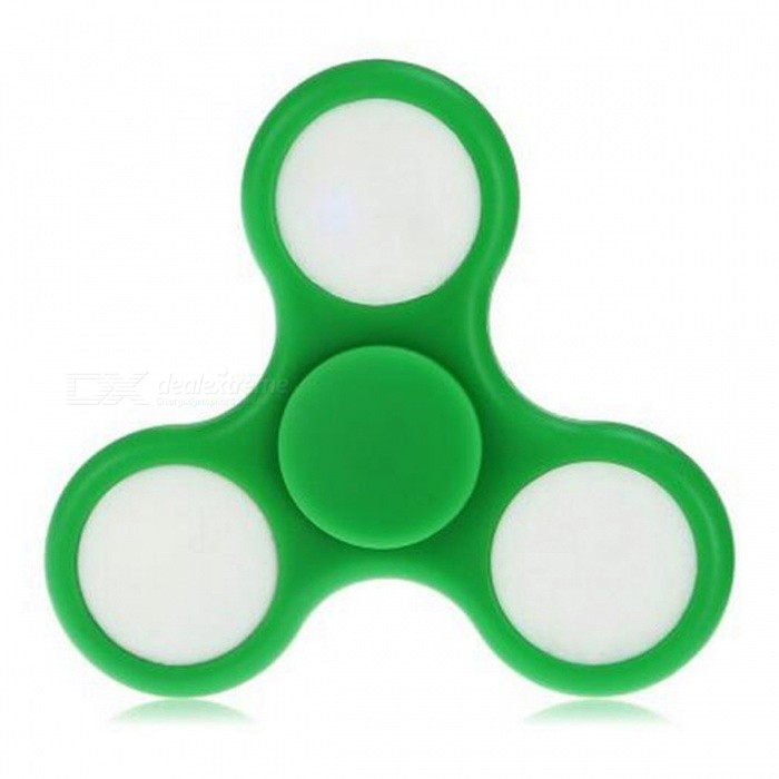 E-SMARTER Colorful Luminous Stress Relief Fidget Spinner Toy - Green