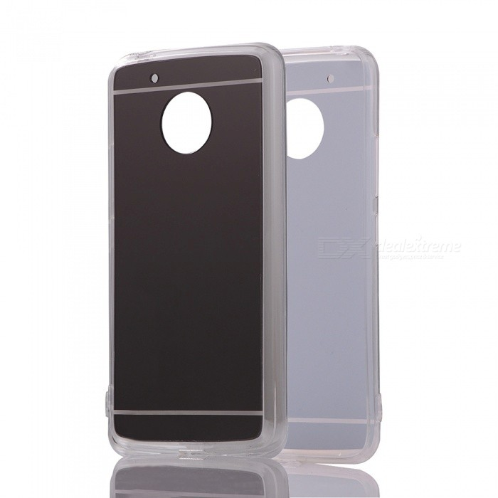 Protective TPU PC Mirror Back Case for Moto G5 - Translucent Black