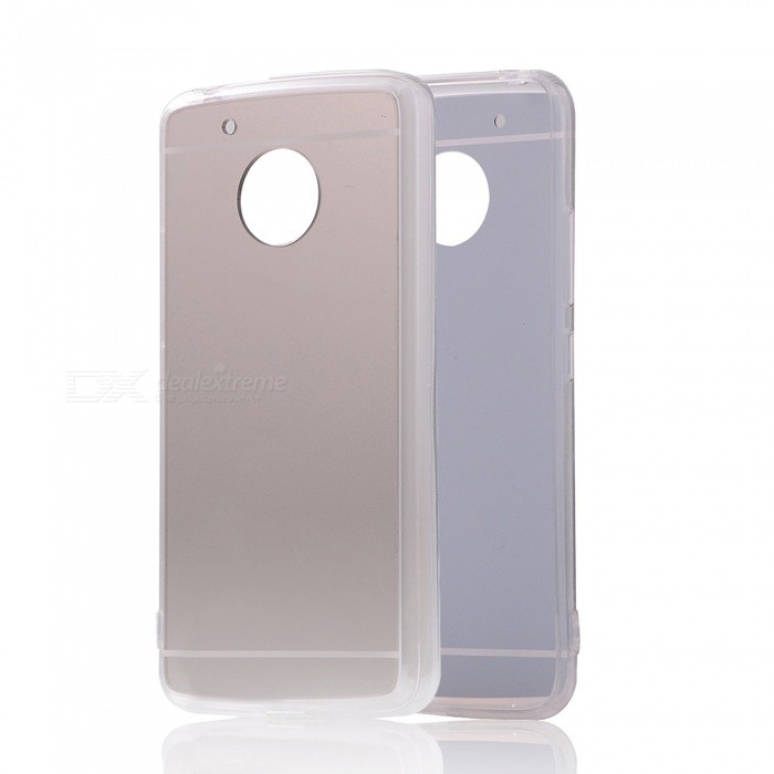 Protective TPU PC Mirror Back Case for Moto G5 - Translucent Silver