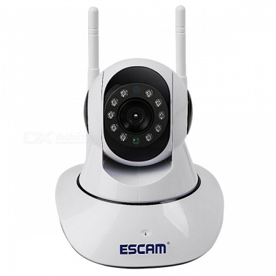 ESCAM G02 Pan Tilt HD 720P telecamera IP wireless - Bianco (connettori americani)