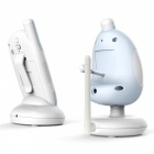 2.4GHz 2.4inch Two-Way CMOS 0.3MP Baby Monitor - Blue (EU Plug)