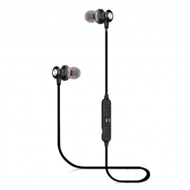 AWEI A980BL Sport Bluetooth Magnetic In-Ear Earphone with Mic - Golden