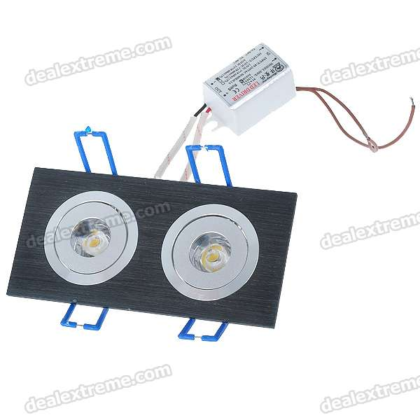 Dual Head 2W 160-Lumen Warm White LED Ceiling Lamp/Down Light (110~200V)