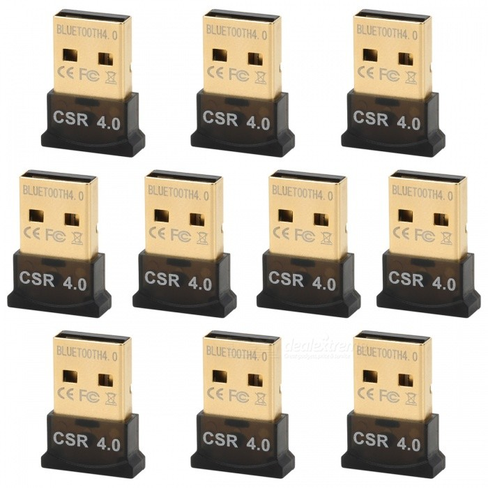 Ultra-Mini Bluetooth CSR 4,0 USB Dongle Adaptadores - Negro (10 PCS)