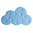 3D Cloud Style 3W Night Lamp Letter light for Kid's Gift - Bule