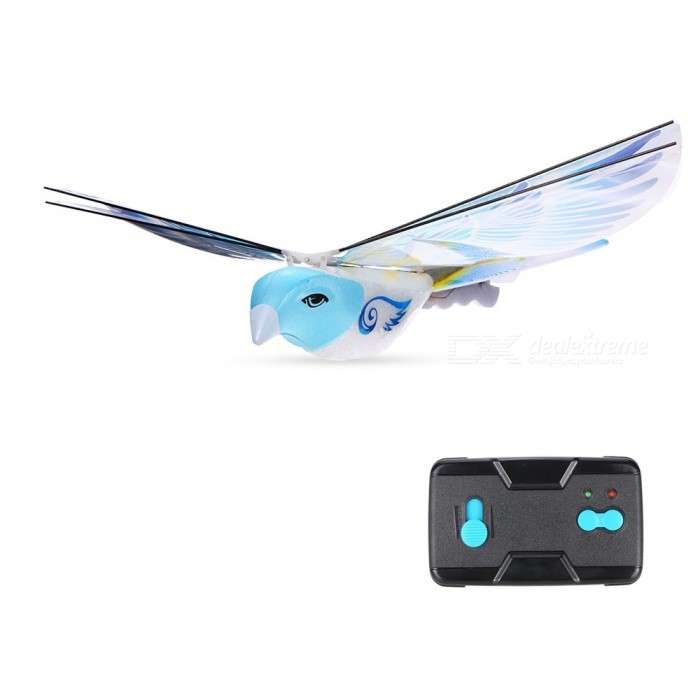 2.4GHz Remote Control Authentic E-Bird Pigeon Flying Bird RC Toy -Blue