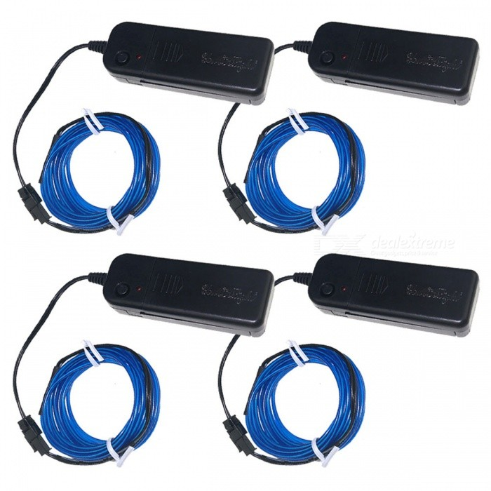 YouOKLight 3m Flexible Blue EL Wire Light Dance Decor Lights (4 PCS)Stage Lights<br>Form  ColorBlue + BlackModelYK0429-4P-BLUEMaterialPVCQuantity4 piecesShade Of ColorBluePattern TypeN/AWave Band Range490-450nm (Blue)Total Power3 WPowered ByOthers,Battery PoweredPacking List4 x EL Wire Lights (Blue)<br>