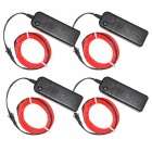 YouOKLight 3m Flexible Red EL Wire Light Dance Decor Lights (4 PCS)
