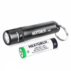 NexTORCH K20 Portable Highlight Mini LED ficklampa - Svart