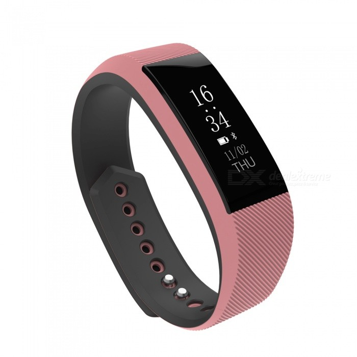 W808S Waterproof IP67 Smart Bracelet Watch Fitness Tracker - PinkSmart Bracelets<br>Form  ColorPinkModelW808sQuantity1 DX.PCM.Model.AttributeModel.UnitMaterialABSShade Of ColorPinkWater-proofIP67Bluetooth VersionBluetooth V4.0Touch Screen TypeYesCompatible OSSupport Android 4.4 above or IOS 7.0 aboveBattery Capacity75 DX.PCM.Model.AttributeModel.UnitBattery TypeLi-polymer batteryStandby Time15 DX.PCM.Model.AttributeModel.UnitPacking List1 x Smart Wristband1 x English Manual<br>