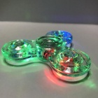 E-SMART Luminous Fidget Stress Relief Spinner Toy - Transparent