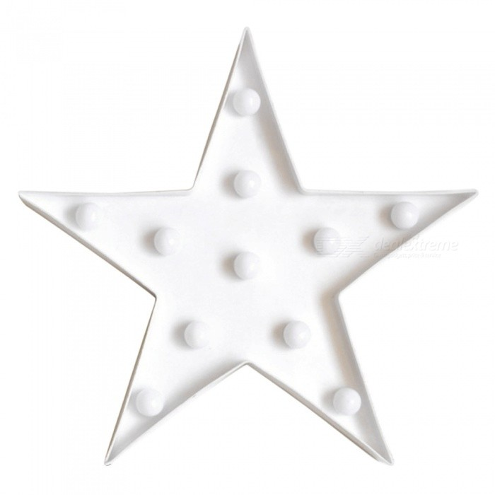 Star Night Light LED for Children Bedroom Decor Kids Gift Toy - White