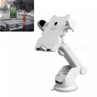 ZIQIAO Universal Car Windshield Long Arm Smartphone Holder - White