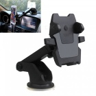 ZIQIAO Universal Car Windshield Long Arm Smartphone Holder - Black